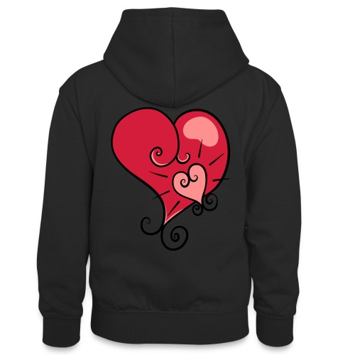 The world's most important. - Teenager Contrast Hoodie