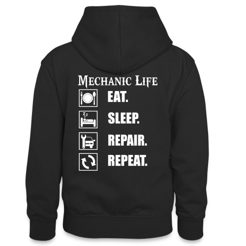 Das Leben als Mechaniker ist hart! Witziges Design - Teenager Kontrast-Hoodie