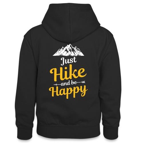 Just Hike And Be Happy Nature-Design für Hiking - Teenager Kontrast-Hoodie