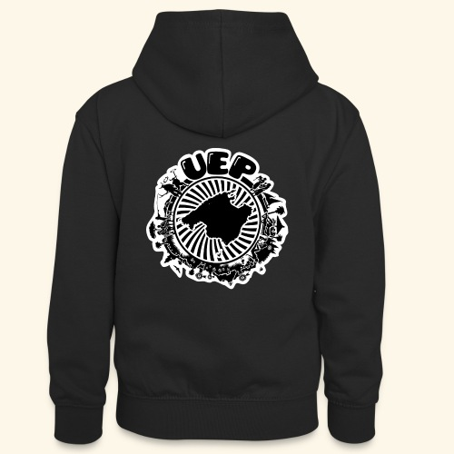 UEP white background - Teenager Contrast Hoodie