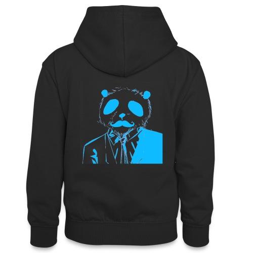 BluePanda Logo - Teenager Contrast Hoodie