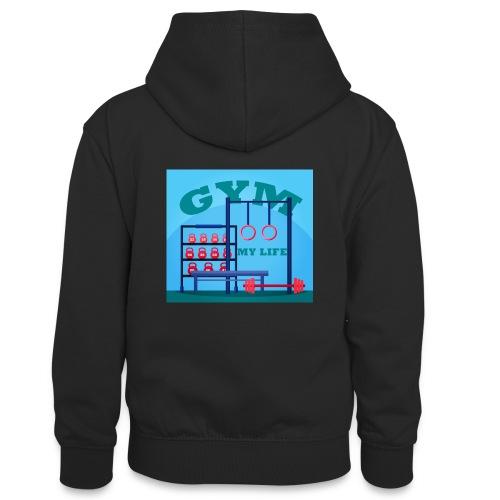 GYM - Teinien kontrastivärinen huppari