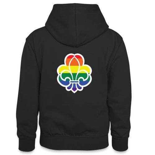 Regnbuespejder jakker og t-shirts mv - Kontrasthoodie teenager