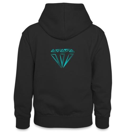 diamante - Felpa con cappuccio in contrasto cromatico per ragazzi