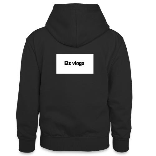 Elz vlogz merch - Teenager Contrast Hoodie