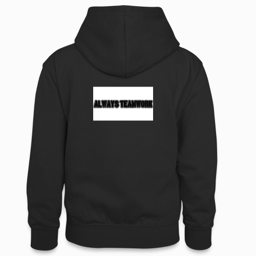 at team - Teenager contrast-hoodie
