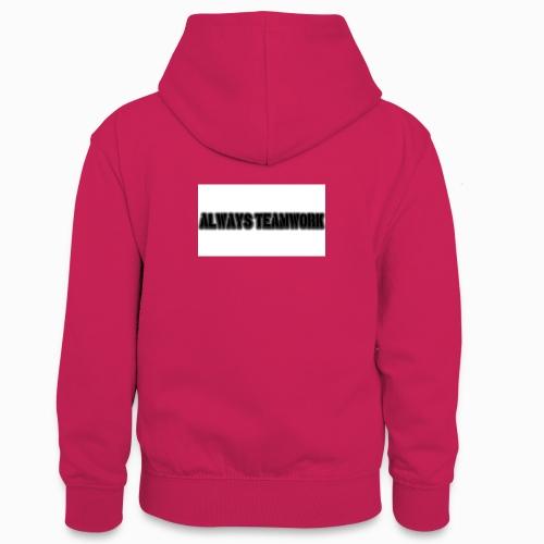 at team - Teenager contrast-hoodie