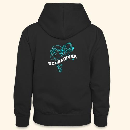ScubaDiverShirt001 - Teenager contrast-hoodie