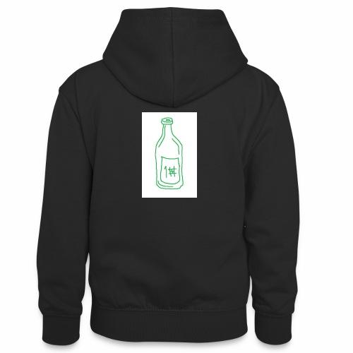 Alkoholi - Teinien kontrastivärinen huppari