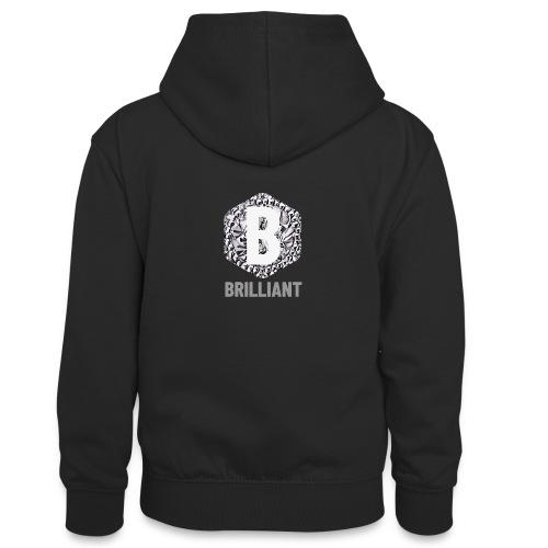 B brilliant grey - Teenager contrast-hoodie