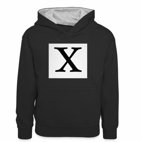 THE X - Teenager Contrast Hoodie