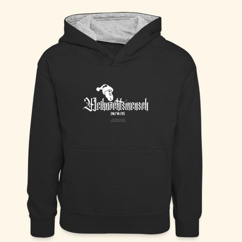 Geek T-Shirt lustiger Spruch Gendering LBGTQIA - Teenager Kontrast-Hoodie