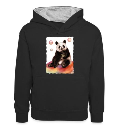 Panda World - Felpa con cappuccio in contrasto cromatico per ragazzi