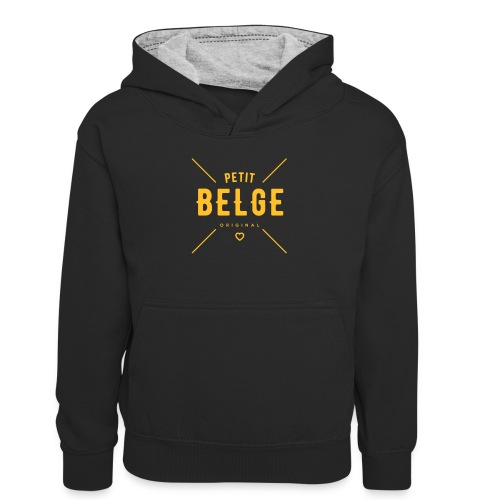 petit Belge original - Sweat à capuche contrasté Ado