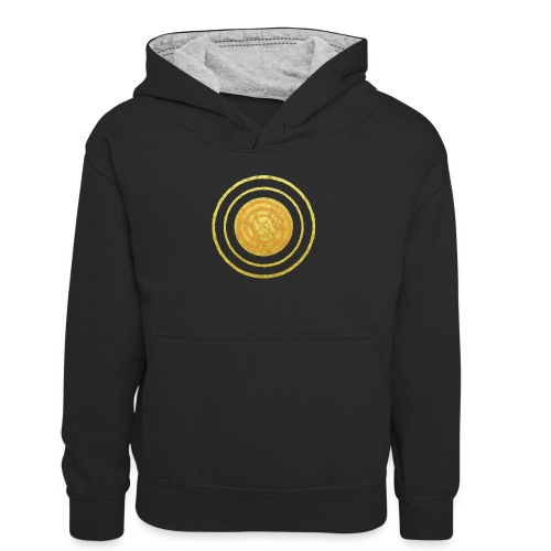 Glückssymbol Sonne - positive Schwingung - Spirale - Teenager Kontrast-Hoodie