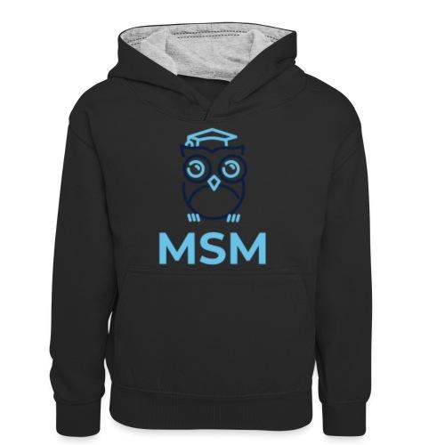 MSM UGLE - Kontrasthoodie teenager