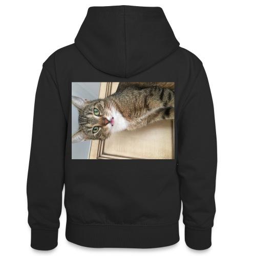 Kotek - Młodzieżowa bluza z kontrastowym kapturem