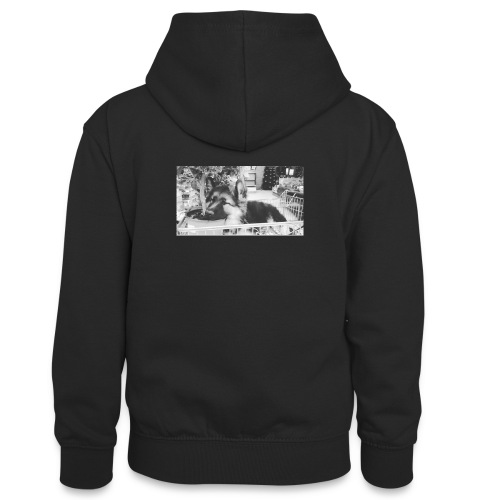 Zzz - Teenager contrast-hoodie