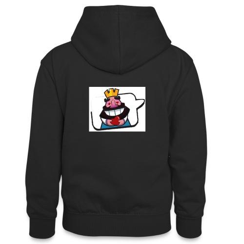 Cartoon - Felpa con cappuccio in contrasto cromatico per ragazzi