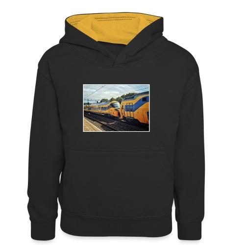 Nieuwe Intercity gesleept door Weesp - Teenager contrast-hoodie