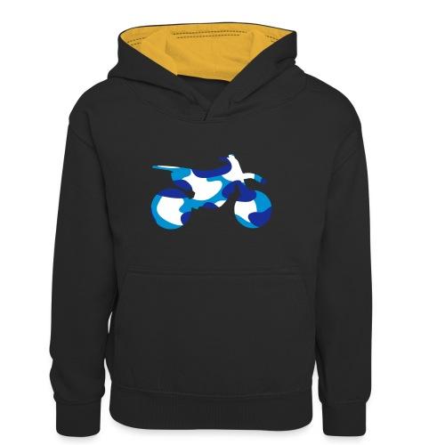 Camo Dirtbike 0DB01 - Teenager Contrast Hoodie