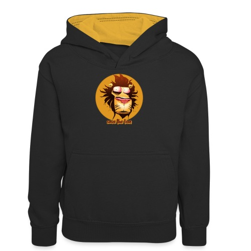 Print leeuwenkop - Teenager contrast-hoodie
