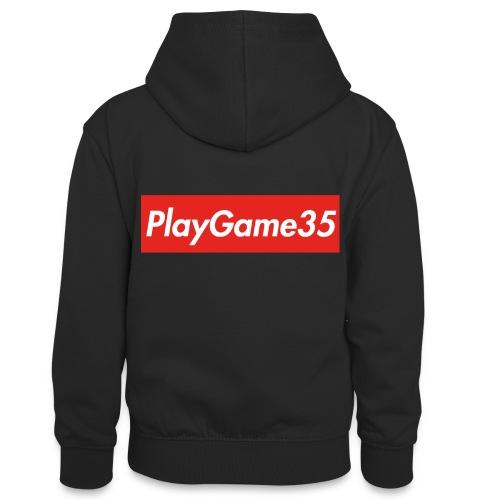 PlayGame35 - Felpa con cappuccio in contrasto cromatico per ragazzi