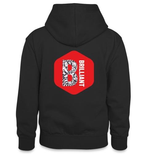 B brilliant red - Teenager contrast-hoodie