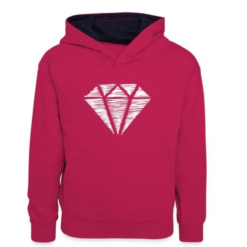 Diamante blanco - Sudadera con capucha para adolescentes
