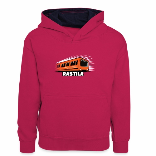 RASTILA Helsingin metro t-paidat, vaatteet, lahjat - Teinien kontrastivärinen huppari