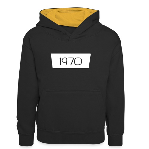 1970 - Teenager contrast-hoodie