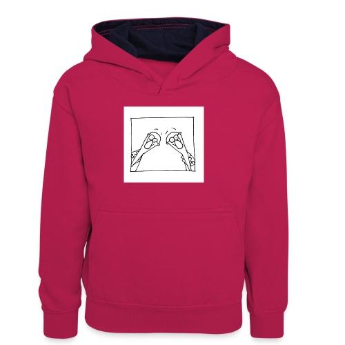 w14 oni - Młodzieżowa bluza z kontrastowym kapturem
