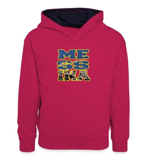 MESSINA YELLOW - Felpa con cappuccio in contrasto cromatico per ragazzi