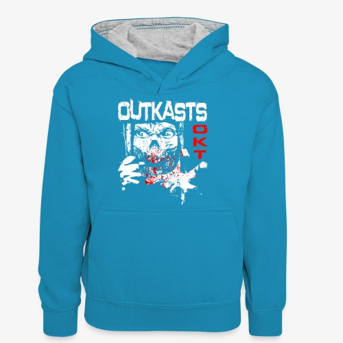 Outkasts Scum OKT Front - Teenager Contrast Hoodie