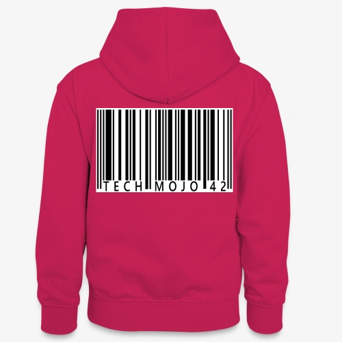 TM graphic Barcode Answer to the universe - Teenager Contrast Hoodie