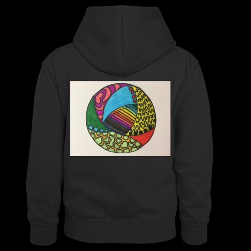 circle corlor - Kontrasthoodie teenager