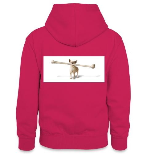 Tough Guy - Teenager contrast-hoodie