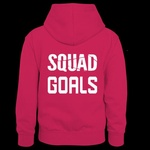squad goals - Teenager contrast-hoodie