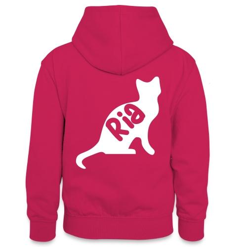 Team Ria Cat - Teenager Contrast Hoodie