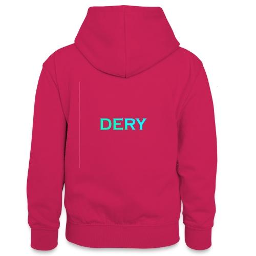 DERY - Teenager Kontrast-Hoodie