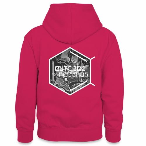 Outcode Records Art - Sudadera con capucha para adolescentes