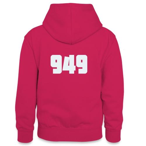 949withe - Teenager Kontrast-Hoodie