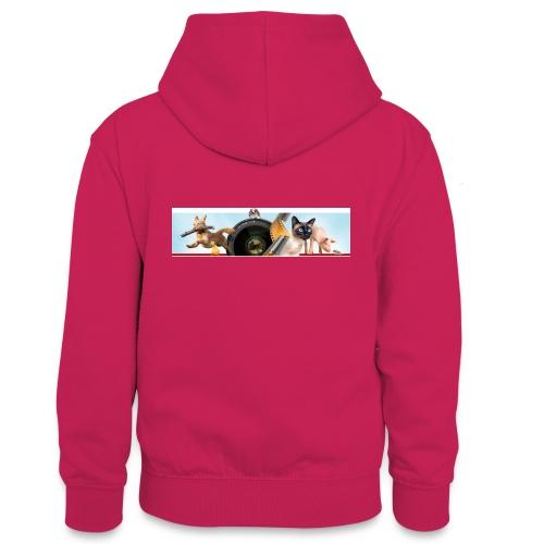 Animaux logo - Teenager contrast-hoodie