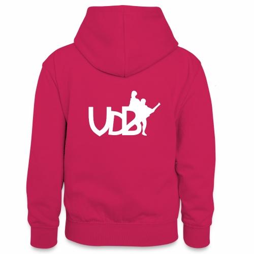 Linea VdB Bianco - Felpa con cappuccio in contrasto cromatico per ragazzi