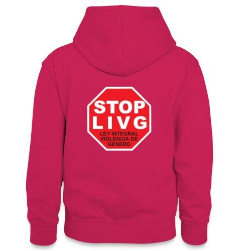 Stop LIVG Ley integral de violencia de Género - Sudadera con capucha para adolescentes