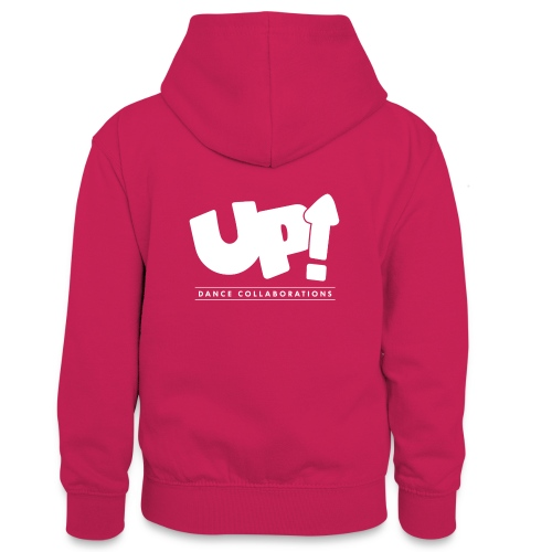 Up Dance White Logo - Teenager Contrast Hoodie