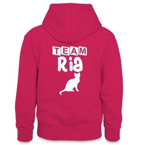 Team Ria - Teenager Contrast Hoodie