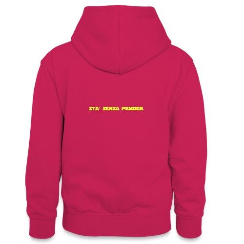 UVSMF - Felpa con cappuccio in contrasto cromatico per ragazzi