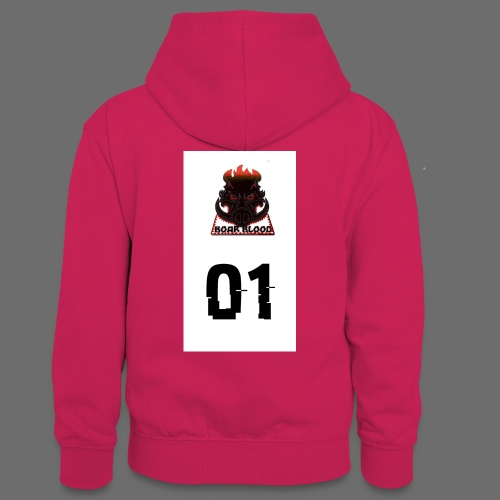 Boar blood 01 - Młodzieżowa bluza z kontrastowym kapturem