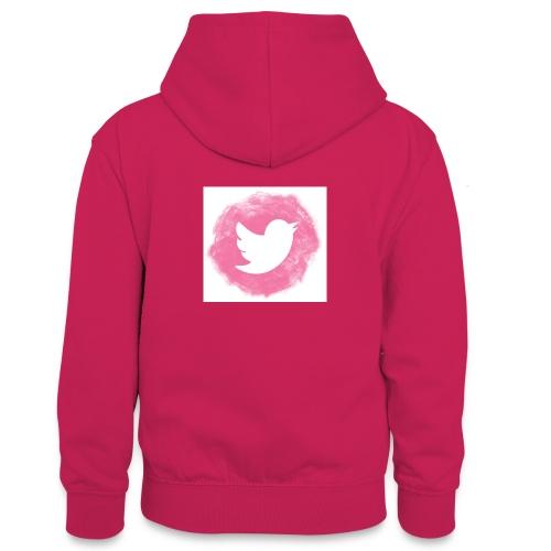 pink twitt - Teenager Contrast Hoodie